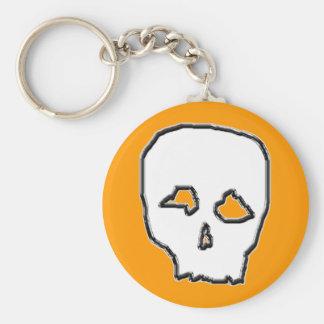 Black and White Skull. Keychain
