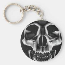 rockstar, skull, skateboard, skulls, skeleton, skeletons, fantasy, creepy, scare, scary, dark, gothic, teeth, fear, halloween, creep, art, medievil, ancient, culture, realism, creatures, creature, Keychain with custom graphic design