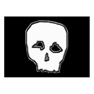 Black and White Skull. Large Business Card