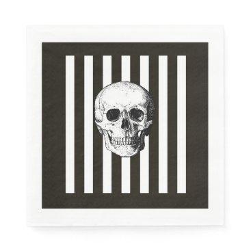 Halloween Themed Black and white skull napkins