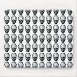 Black and White Skull Pattern. Mousepad