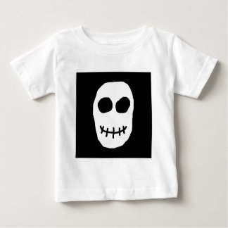 Black and White Skull. Primitive Style. Baby T-Shirt
