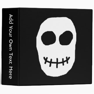 Black and White Skull. Primitive Style. Binder
