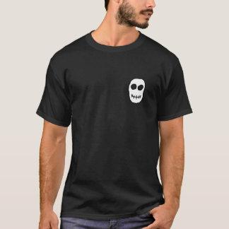 Black and White Skull. Primitive Style. T-Shirt