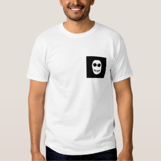 Black and White Skull. Primitive Style. T-Shirt