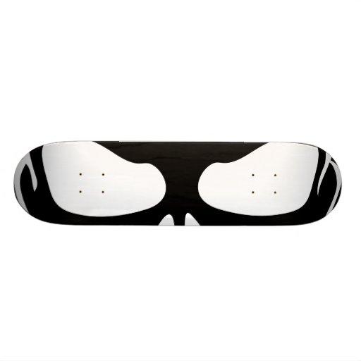 Black and White Skull Skateboard