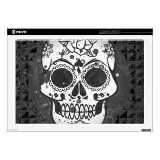 """Black and white SKULL 17"""" Laptop Skins"""
