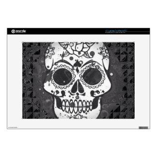 """Black and white SKULL Skin For 15"""" Laptop"""