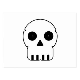 Black and white skull v2. postcard