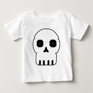 Black and white skull v3 baby T-Shirt