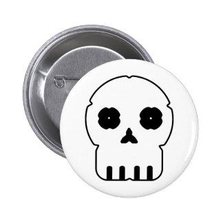 Black and white skull v3 button