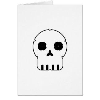 Black and white skull v3 card