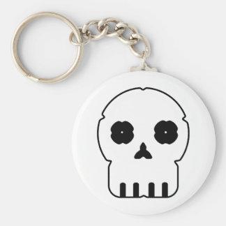 Black and white skull v3 keychain