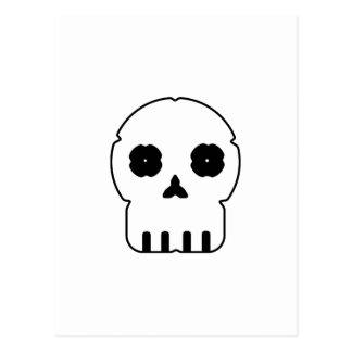 Black and white skull v3 postcard