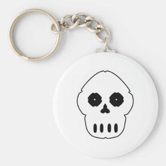 Black and white skull v4. keychain