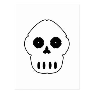Black and white skull v4. postcard