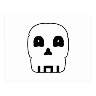 Black and white skull v5. postcard