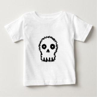 Black and white skull v6. baby T-Shirt