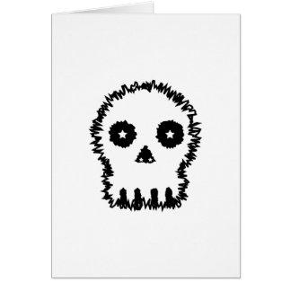 Black and white skull v6. card