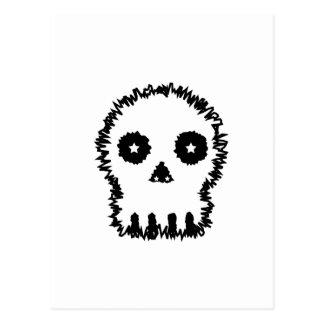 Black and white skull v6. postcard
