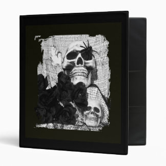 Black and White Skulls Avery Binder