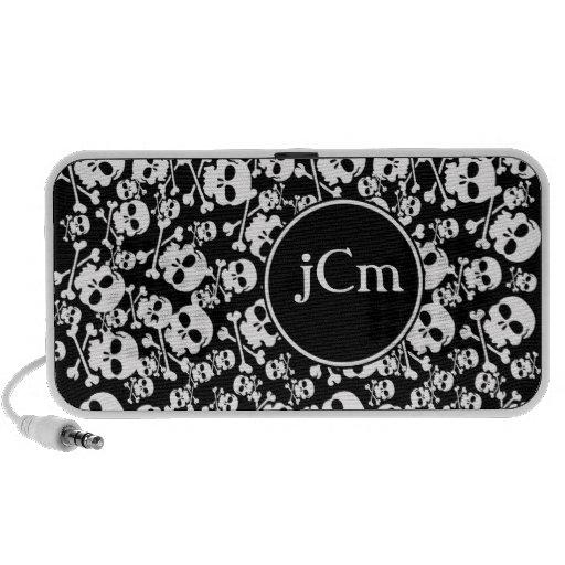 Black and White Skulls Custom Phone Case Mp3 Speakers