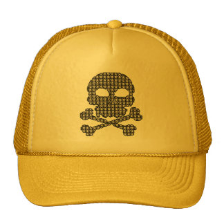 Black and White Skulls for Halloween Trucker Hats
