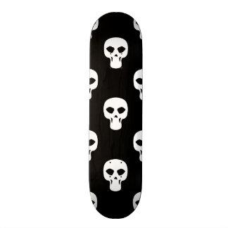 Black and White Skulls Pattern Skateboard Decks