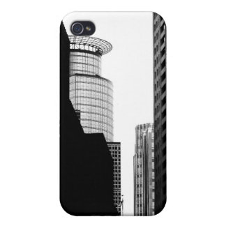 Black and White Skyscrapers Case For iPhone 4