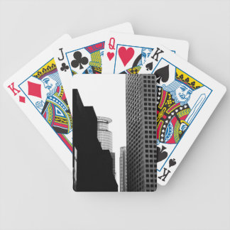 Black and White Skyscrapers Bicycle Playing Cards