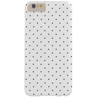 Black and White Small Polka Dots Pattern Barely There iPhone 6 Plus Case