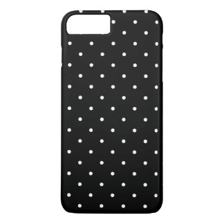 Black and White Small Polka Dots Pattern Girly iPhone 8 Plus/7 Plus Case