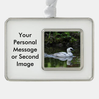 Black and White Smew or Sea Diving Duck Waterfowl Christmas Ornament