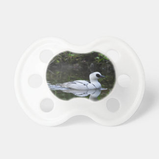 Black and White Smew or Sea Diving Duck Waterfowl Pacifier