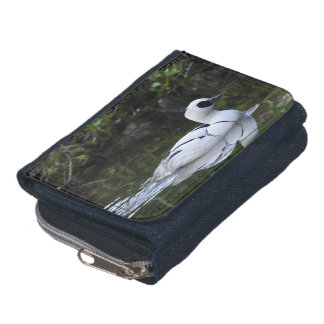Black and White Smew or Sea Diving Duck Waterfowl Wallet
