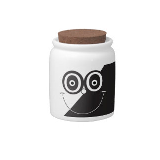 Black and White Smile Candy Jar