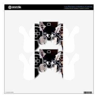 Black and white smiling Alaskan Malamute PS3 Controller Skins