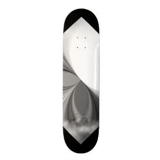 Black and White Smoke Pattern Customizable Deck 3