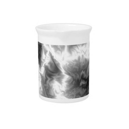 Black And White Smoke Beverage Pitcher