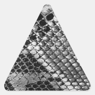 Black and White Snake Skin - Animal Print Triangle Sticker