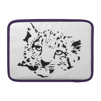 Black-and-White Snow Leopard Cub MacBook Sleeve