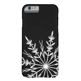 Black and White Snowflake Barely There iPhone 6 Case