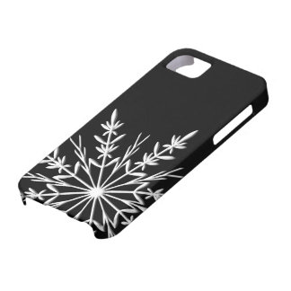 Black and White Snowflake iPhone 5 Case-Mate