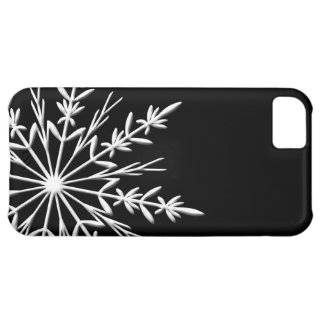 Black and White Snowflake iPhone 5C Case