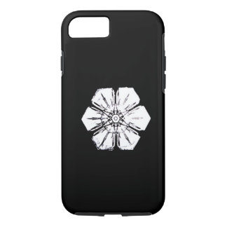 Black and White Snowflake that Resembles a Flower iPhone 8/7 Case