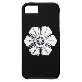 Black and White Snowflake that Resembles a Flower iPhone SE/5/5s Case