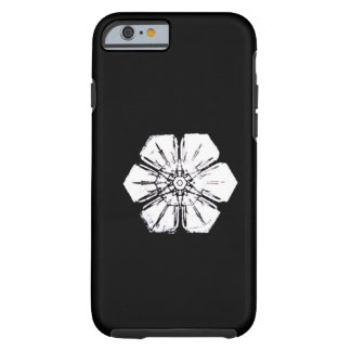 Black and White Snowflake that Resembles a Flower Tough iPhone 6 Case