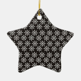 Black and White Snowflakes Ornaments