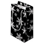 Black and White Snowflakes Small Gift Bag