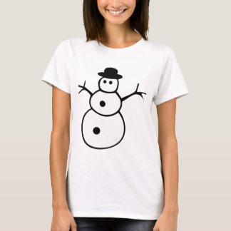 Black and White Snowman T-Shirt